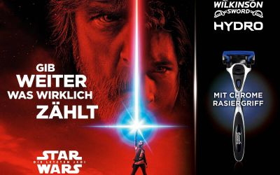 Gewinnt STAR WARS Special Edition-Rasierer von Wilkinson Sword