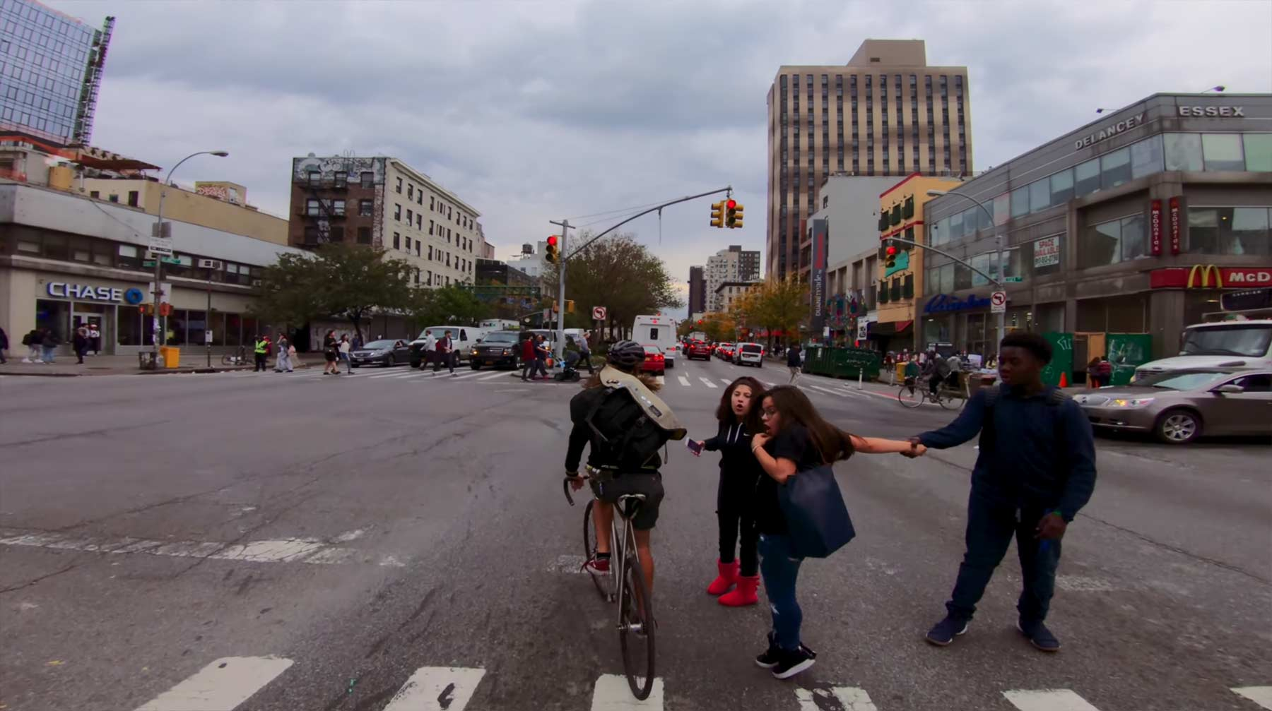 Mit dem Fahrradkurier durch New York City rasen fahrradkurier-NYC