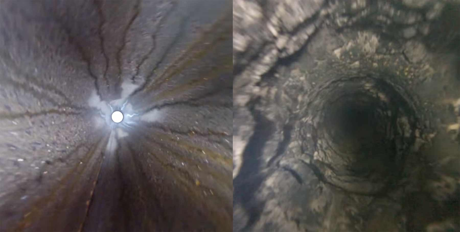 GoPro in frisch gebohrten Brunnen heruntergelassen gopro-in-brunnen-runterlassen