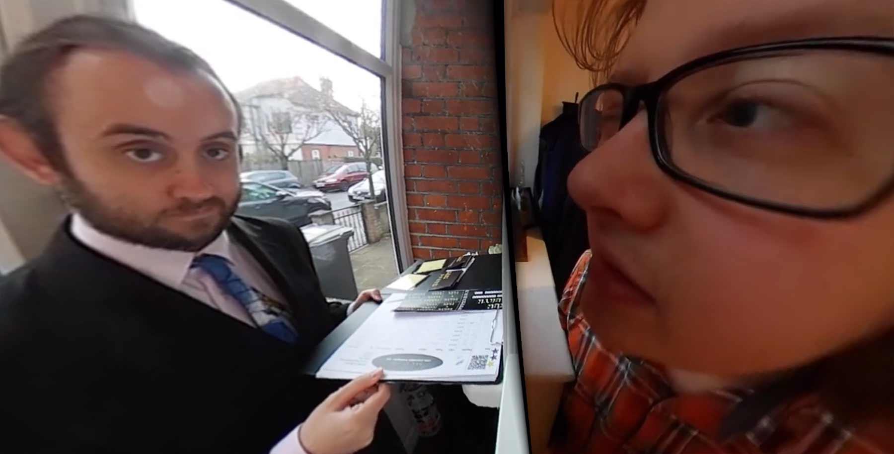 In diesem Kurzfilm nehmt ihr die Position des Türspions ein peephole-vr-short