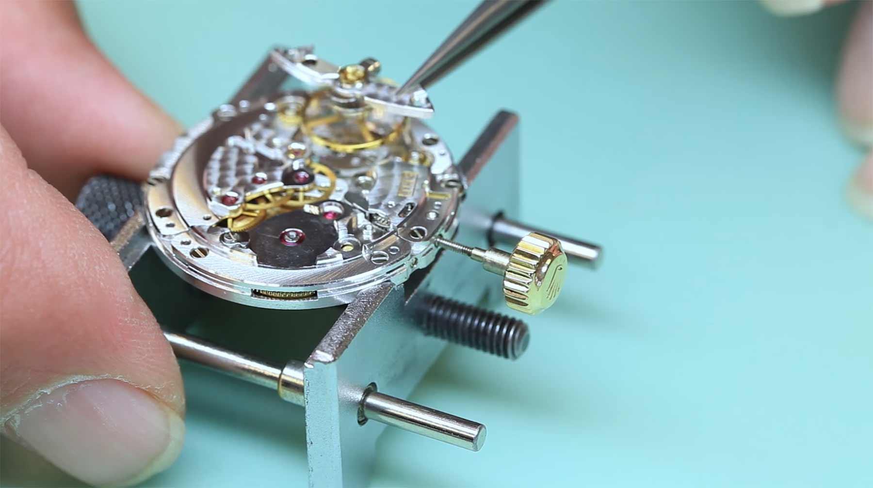 Auseinanderbau einer Rolex rolex-uhrbau