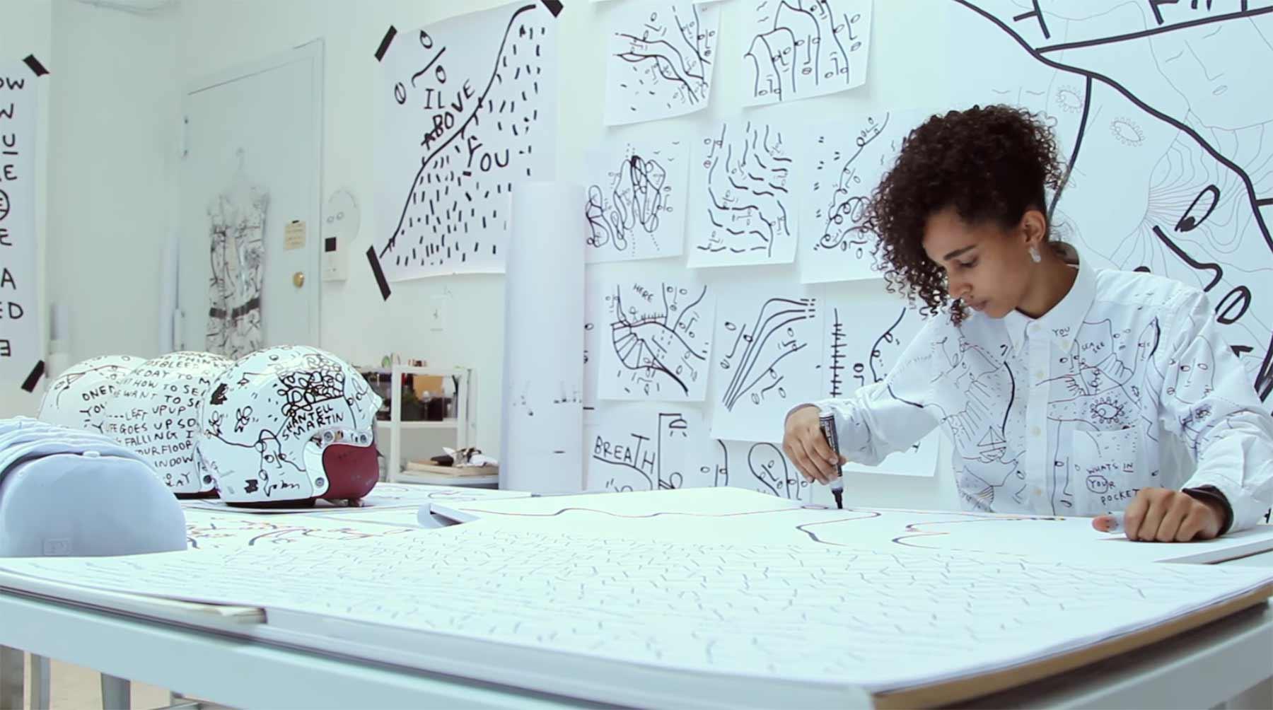 Künstlerin Shantell Martin folgt einfach nur ihrem Stift shantell-martin