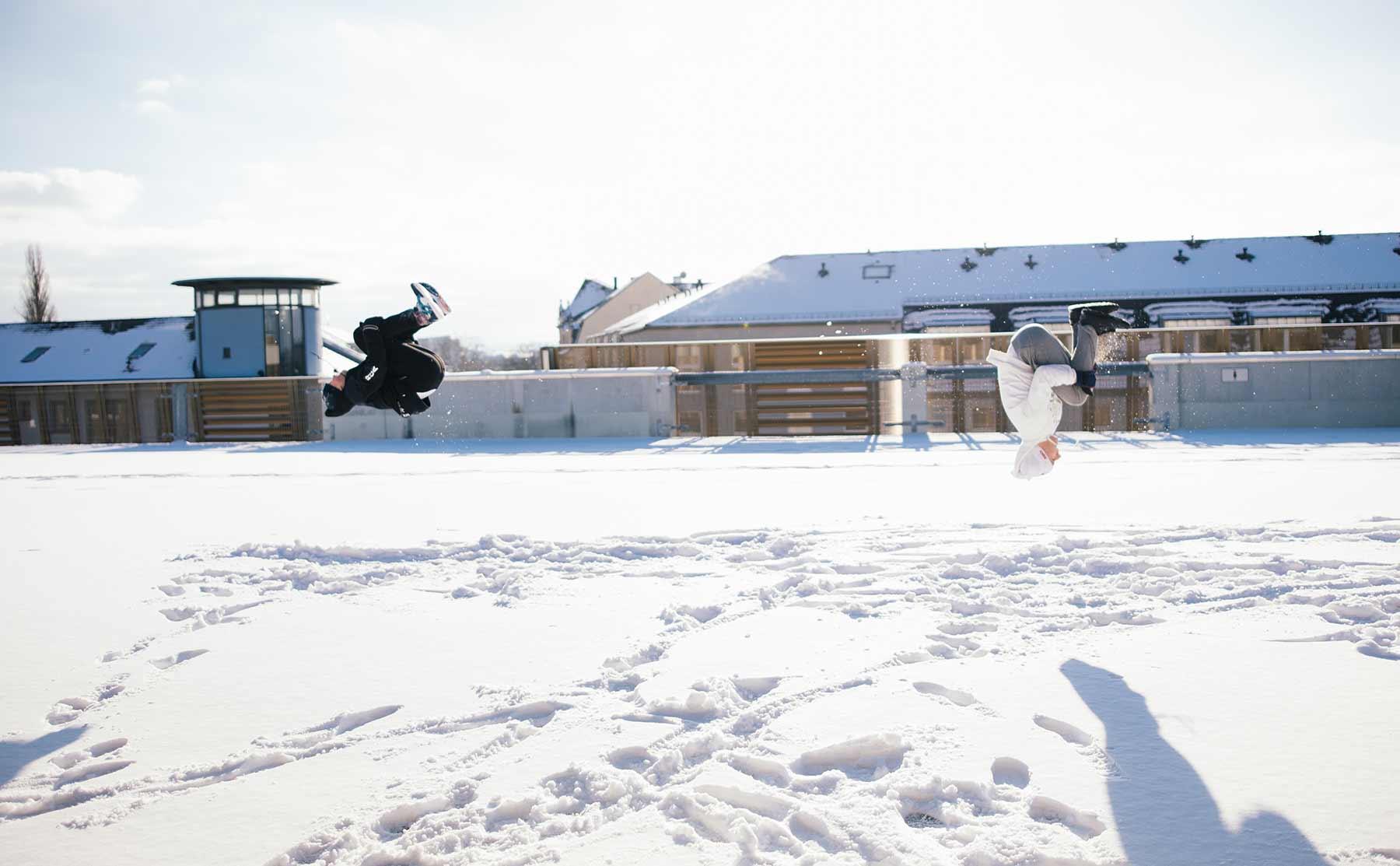 Parkour trifft Schneeballschacht: Snow Wars