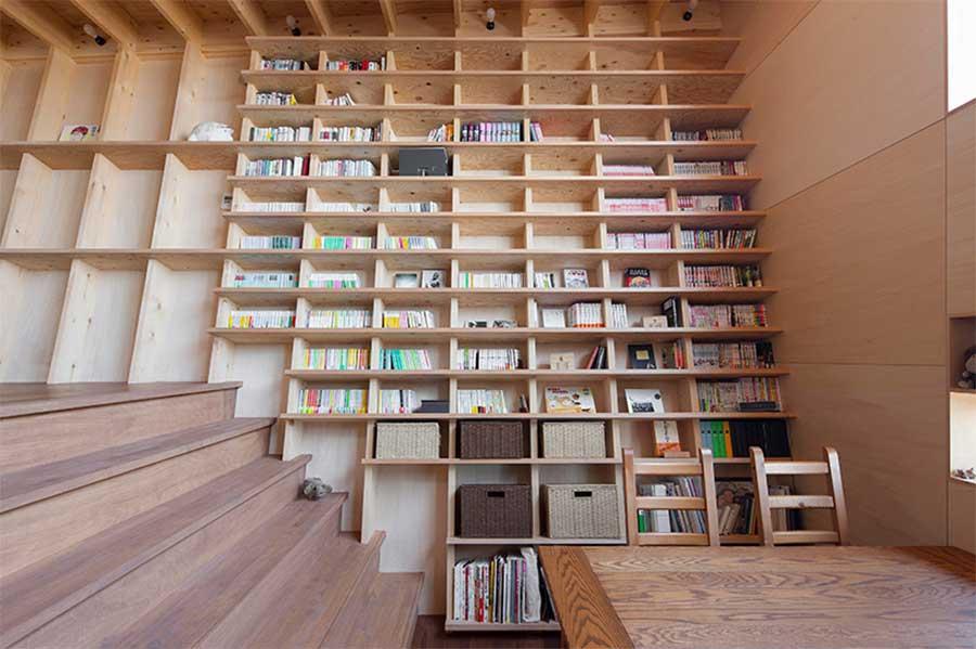 Besteigbares Stufenleiterbücherregal treppenbibliothek_03