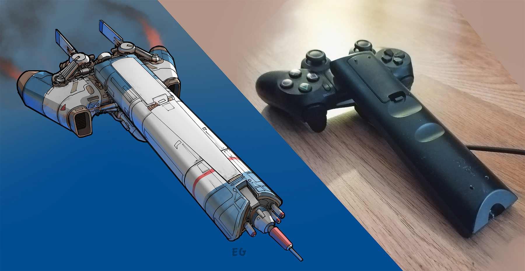 Aus langweiligen Alltagsgegenständen werden futuristische Raumschiffe