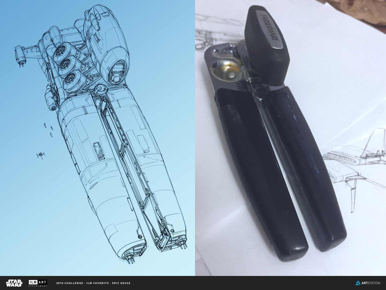 Aus langweiligen Alltagsgegenständen werden futuristische Raumschiffe Eric-Geusz_02