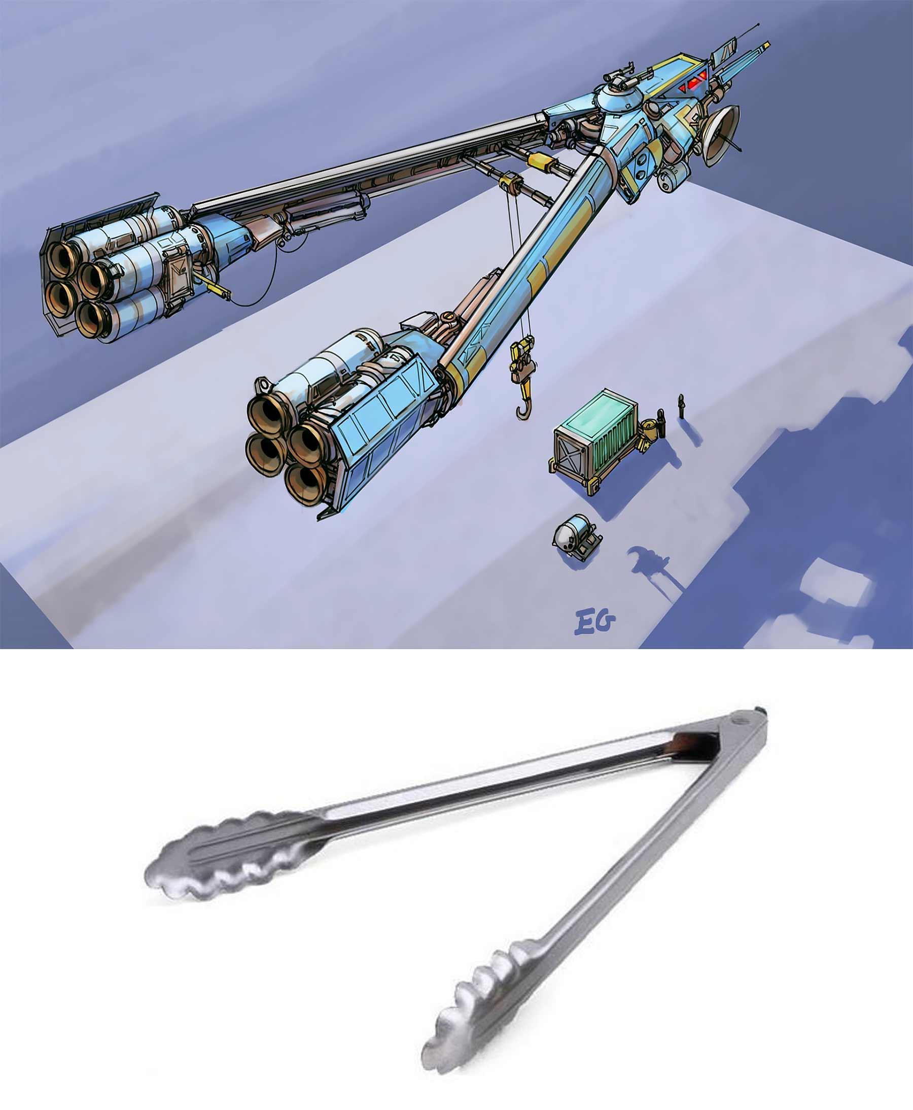 Aus langweiligen Alltagsgegenständen werden futuristische Raumschiffe Eric-Geusz_05