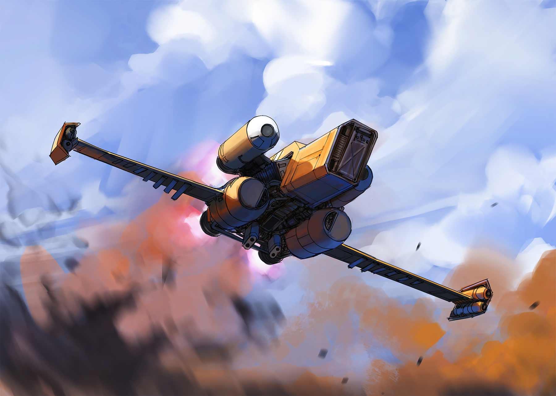Aus langweiligen Alltagsgegenständen werden futuristische Raumschiffe Eric-Geusz_06