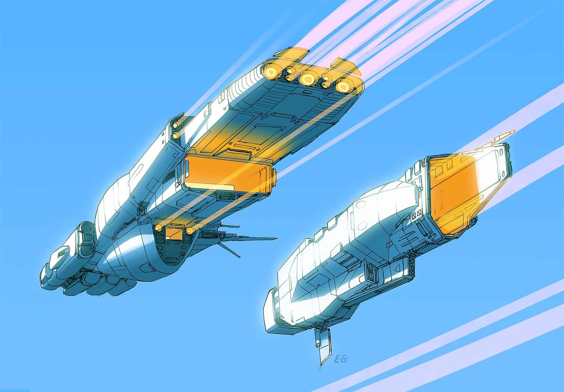 Aus langweiligen Alltagsgegenständen werden futuristische Raumschiffe Eric-Geusz_07