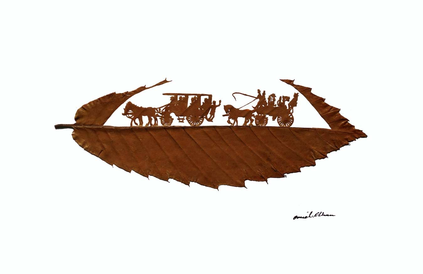 Kunstvoll geschnittene Laubblätter Omid-Asadi-leaf-art_05