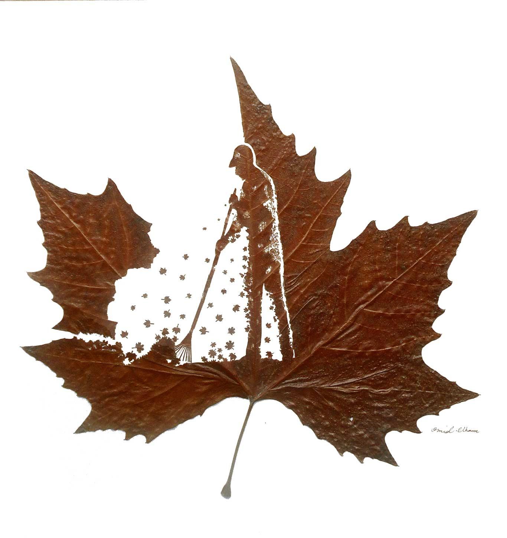 Kunstvoll geschnittene Laubblätter Omid-Asadi-leaf-art_08