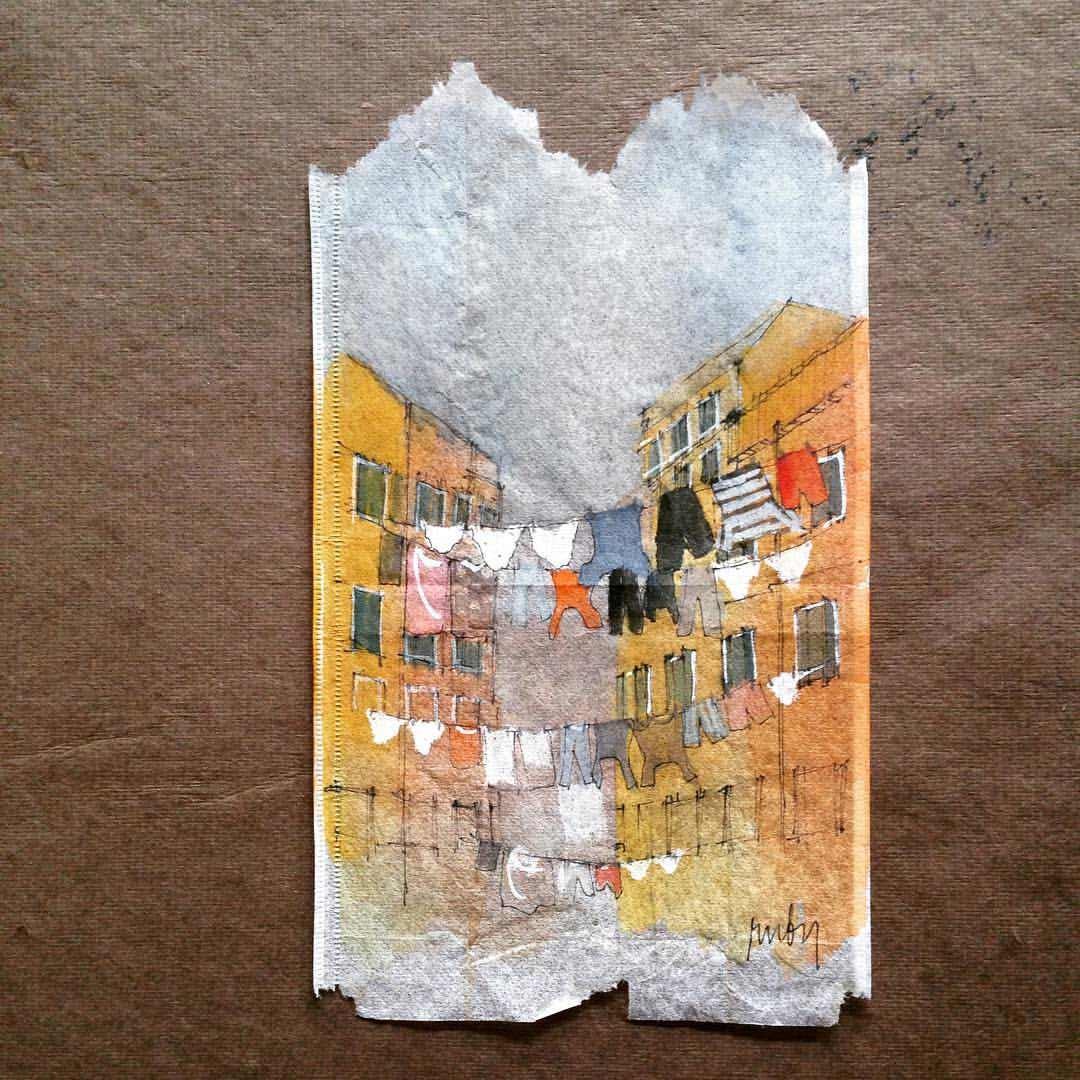 Teebeutel-Malerei von Ruby Silvious Ruby-Silvious-Teebeutelmalerei_04
