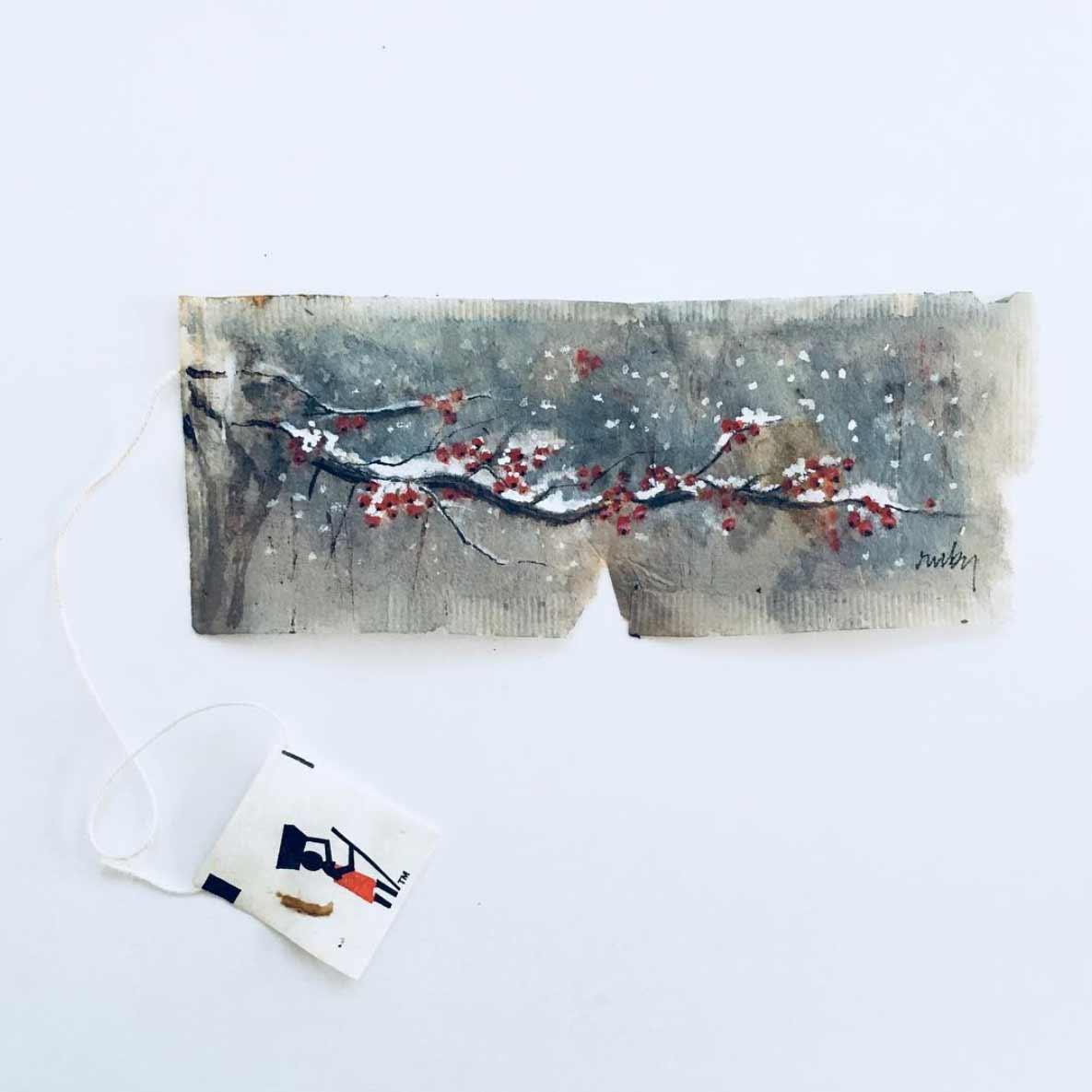 Teebeutel-Malerei von Ruby Silvious Ruby-Silvious-Teebeutelmalerei_08