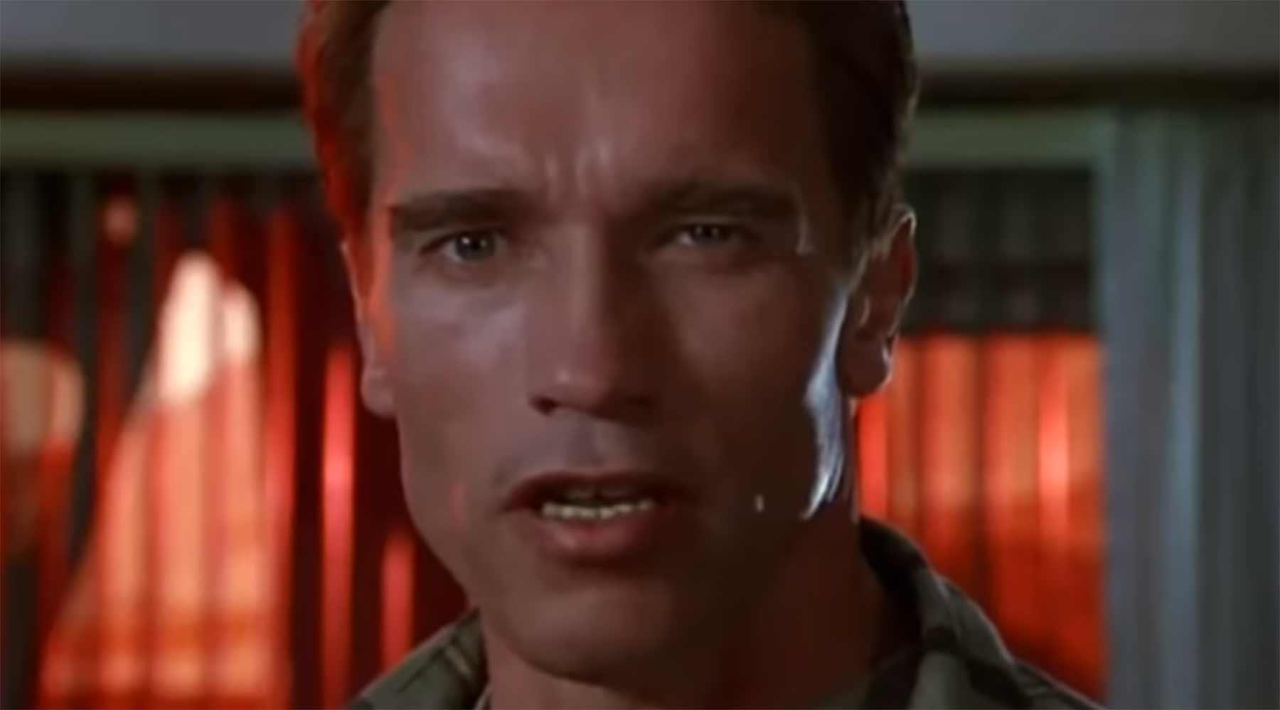 Arnold Schwarzenegger wiederholt sich häufig arnie-on-repeat