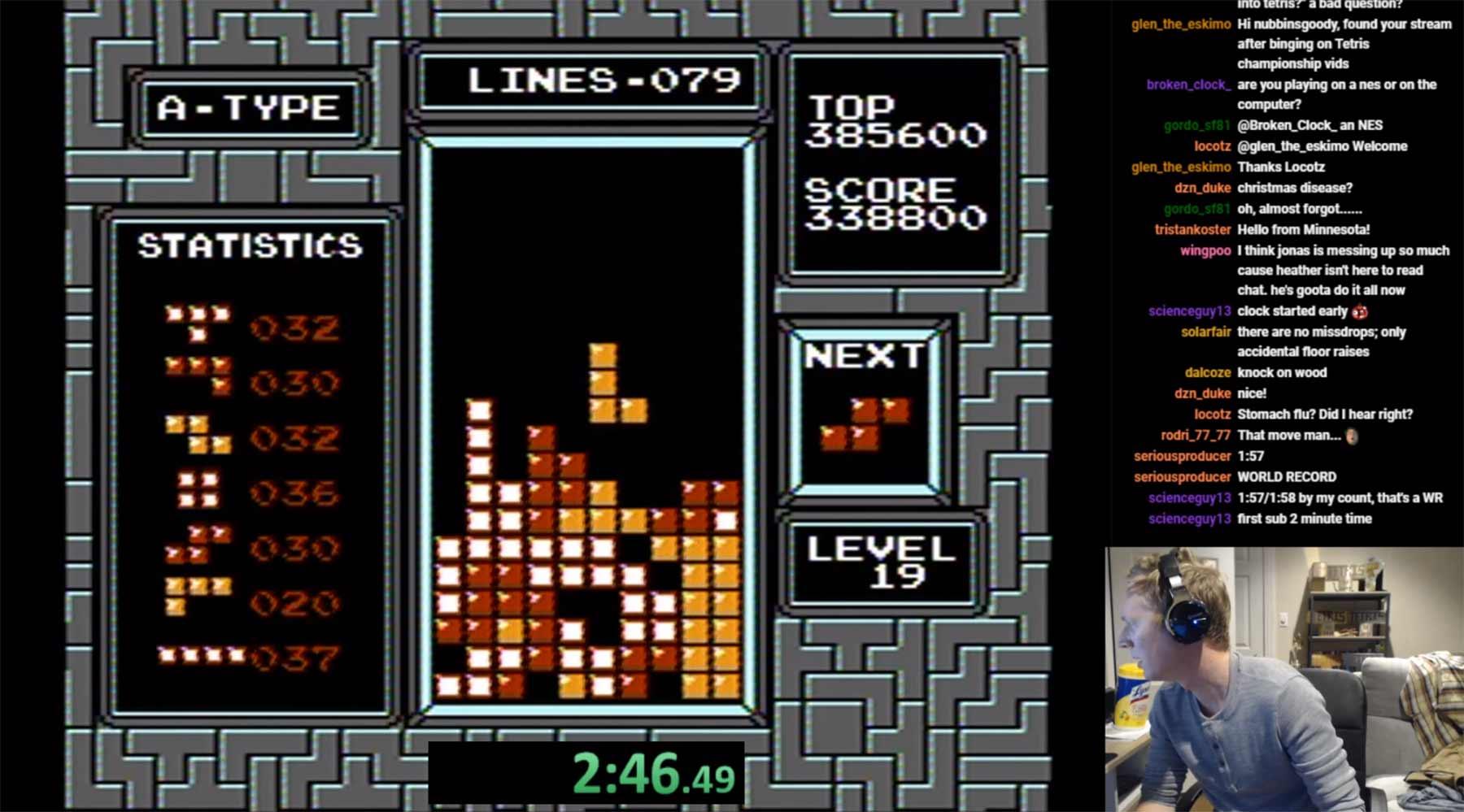 Aus Versehen einen Weltrekord in Tetris brechen