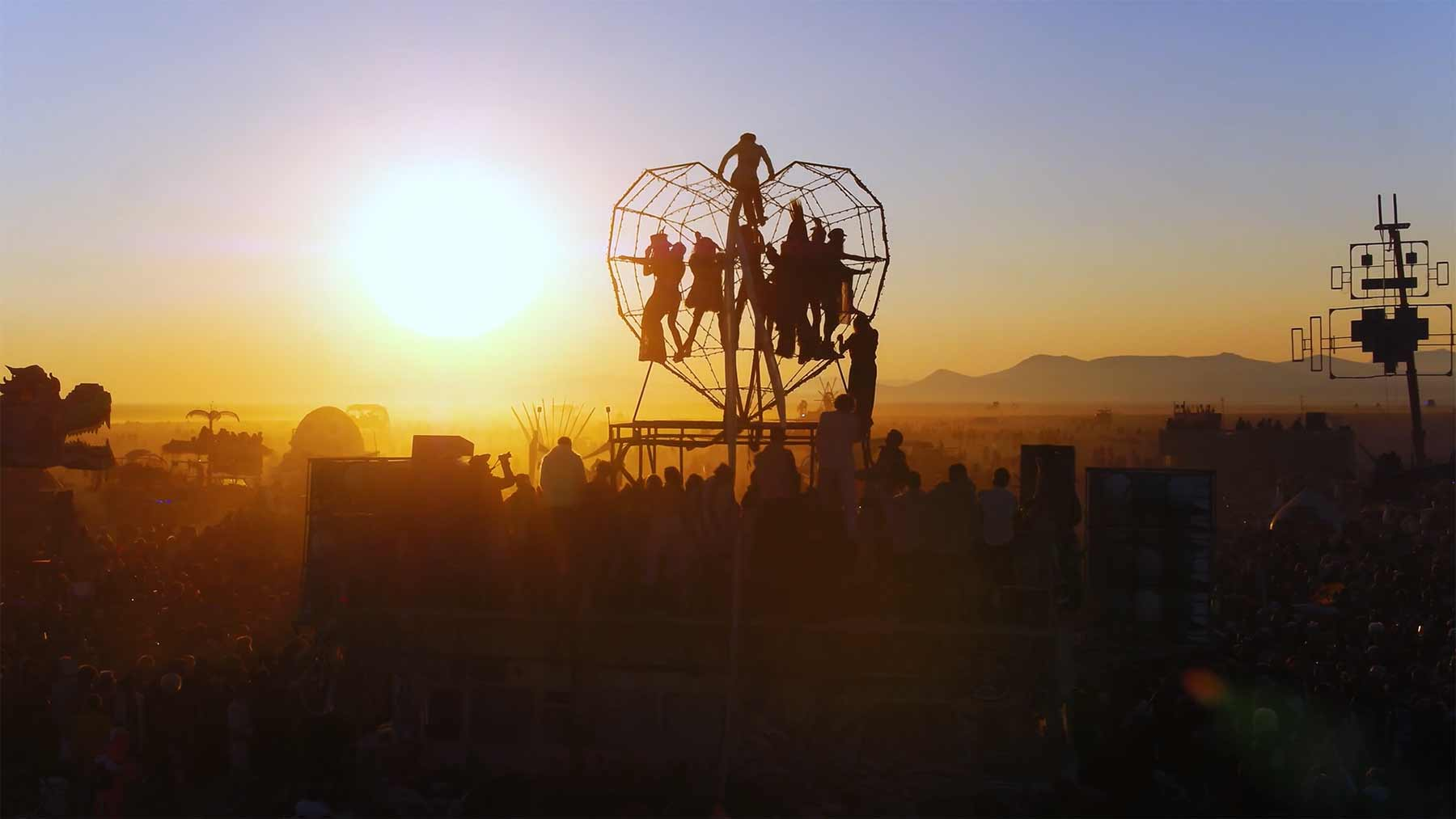 Luftaufnahmen von Burning Man 2017