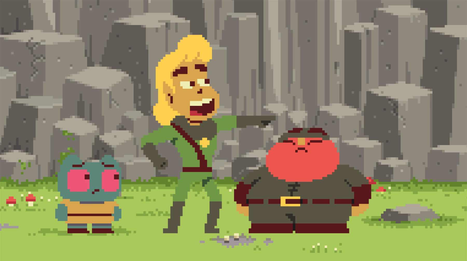 Brutales Pixel-Fantasy-Abenteuer