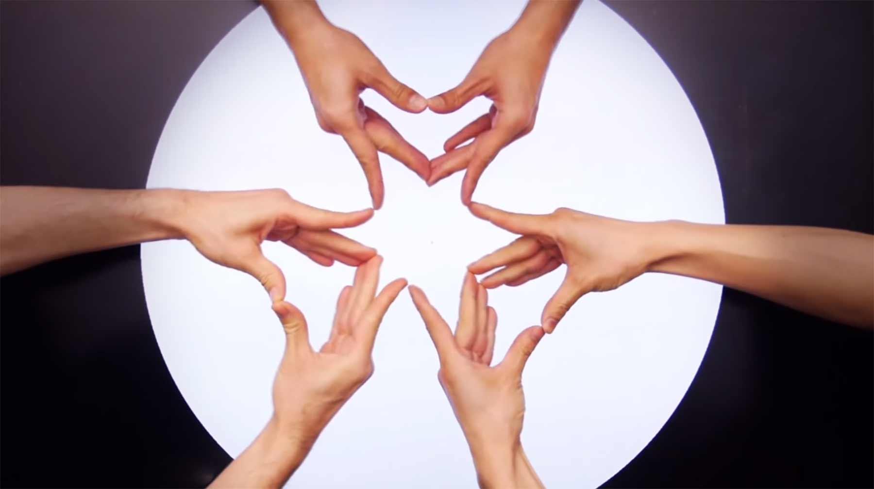Noch ein Kaleidoskop aus Fingern