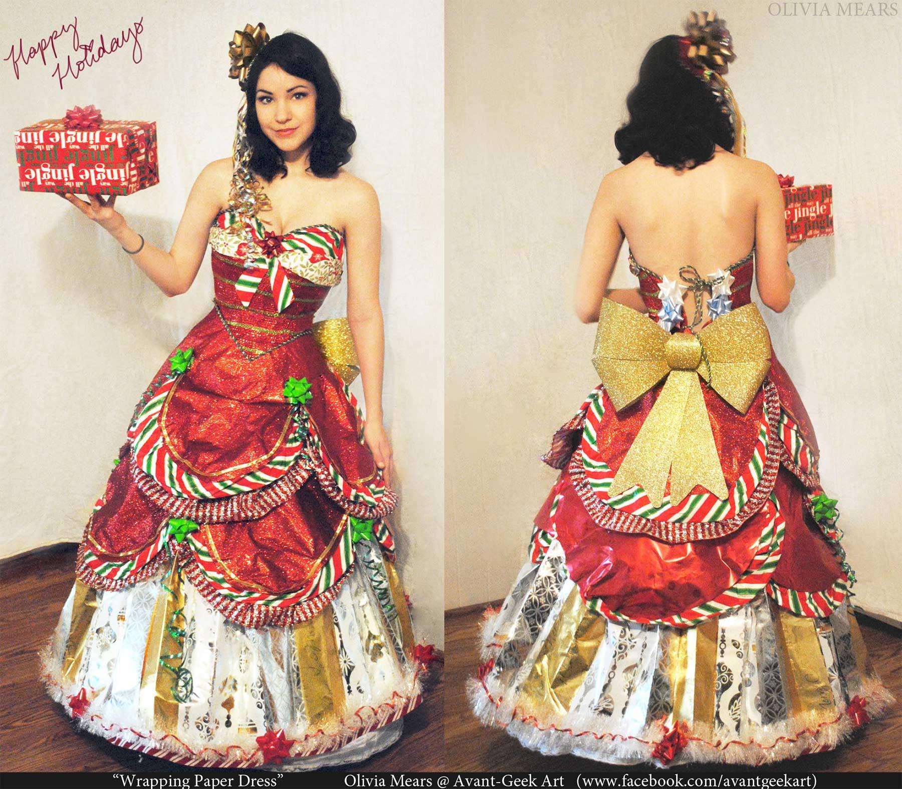 Kleider aus Geschenkpapier geschenkpapierkleider_03