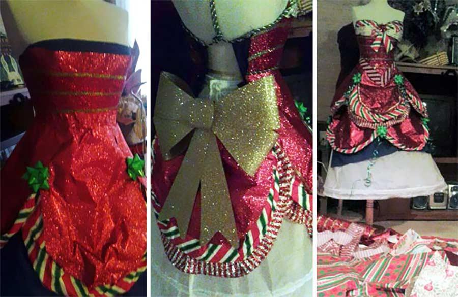 Kleider aus Geschenkpapier geschenkpapierkleider_05
