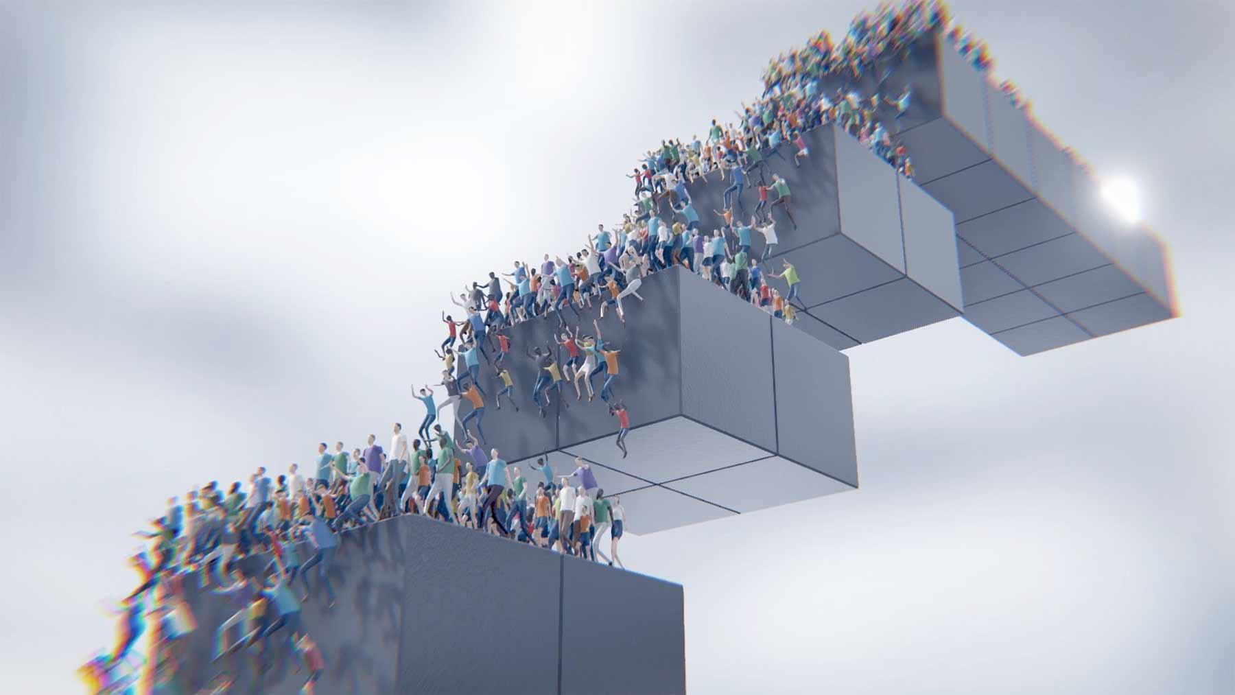"Massen-Simulations-Spiel ""HUMANITY™"" humanity-vs-03-trailer"