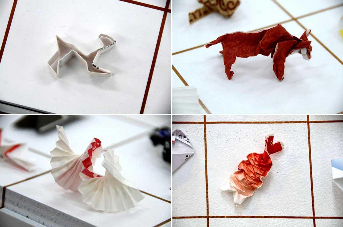 Hinterlassenes Origami aus Essstäbchen-Verpackungen japanese-tip_origami-trinkgeld_03