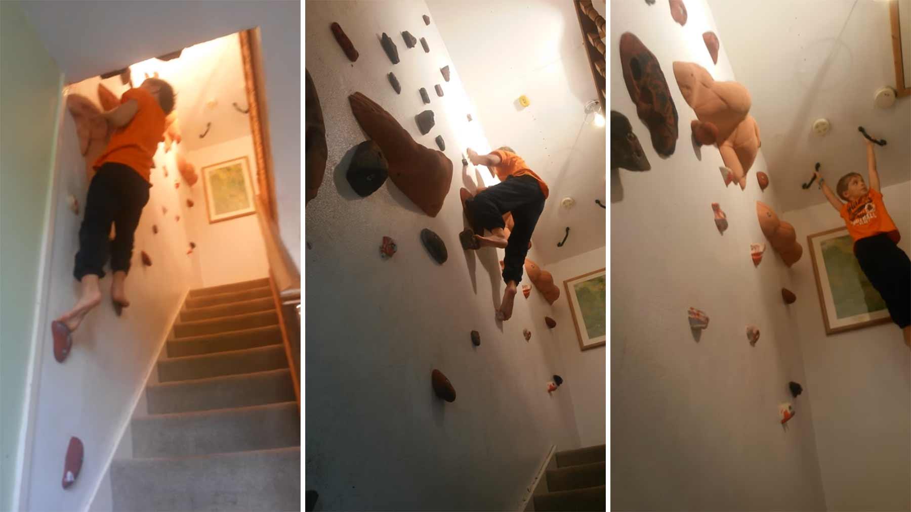 Kletterwand statt Treppe