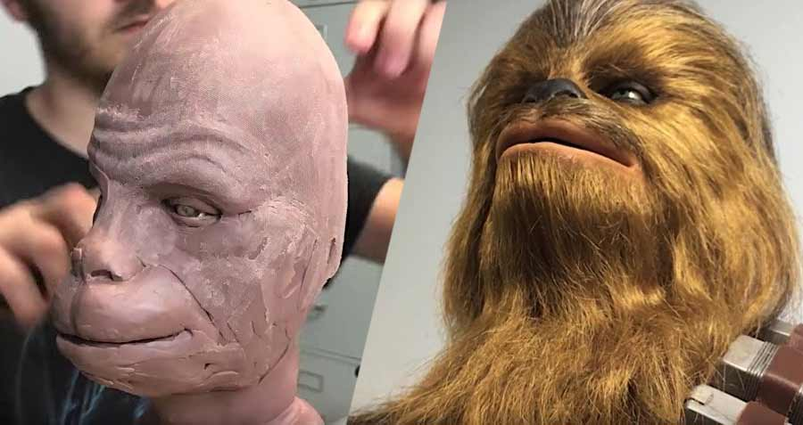 Making of einer detailreichen Chewbacca-Büste