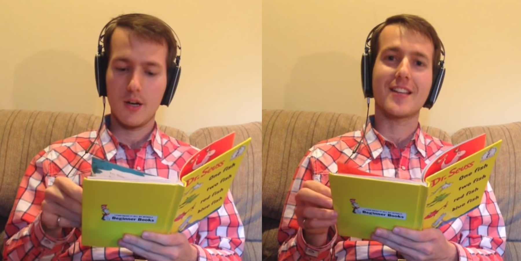 Brainfuck: Sich beim Kinderbuch-Lesen leicht versetzt hören speech-jammer