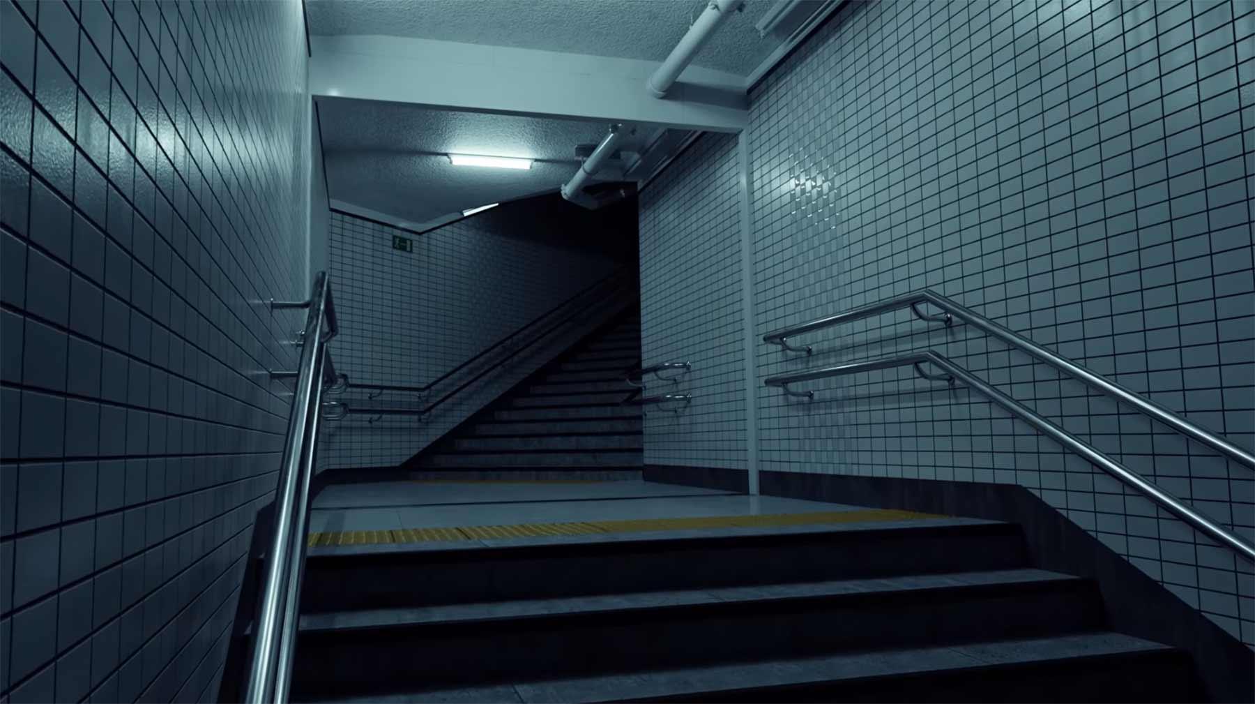 Einen U-Bahn-Aufgang in 3D nachbauen