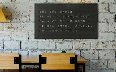 Flughafenanzeigetafel für Daheim