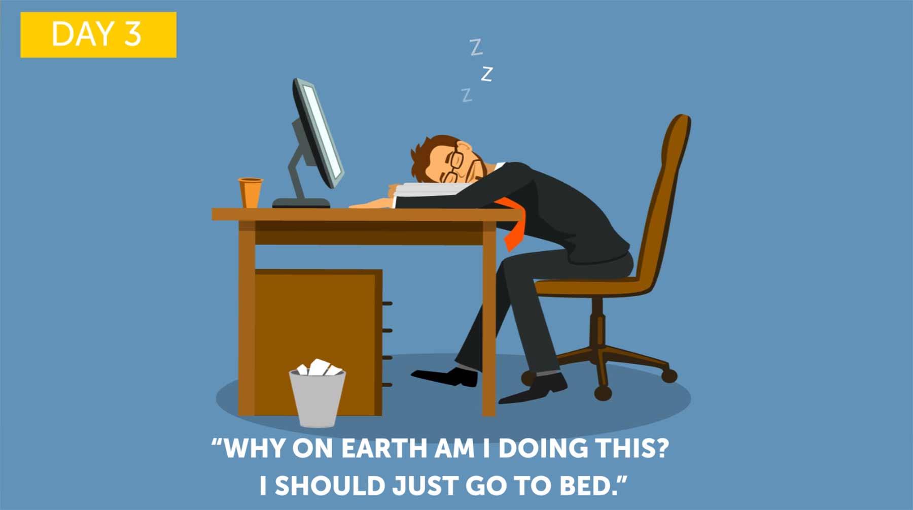 Reichen vier Stunden Schlaf am Tag?