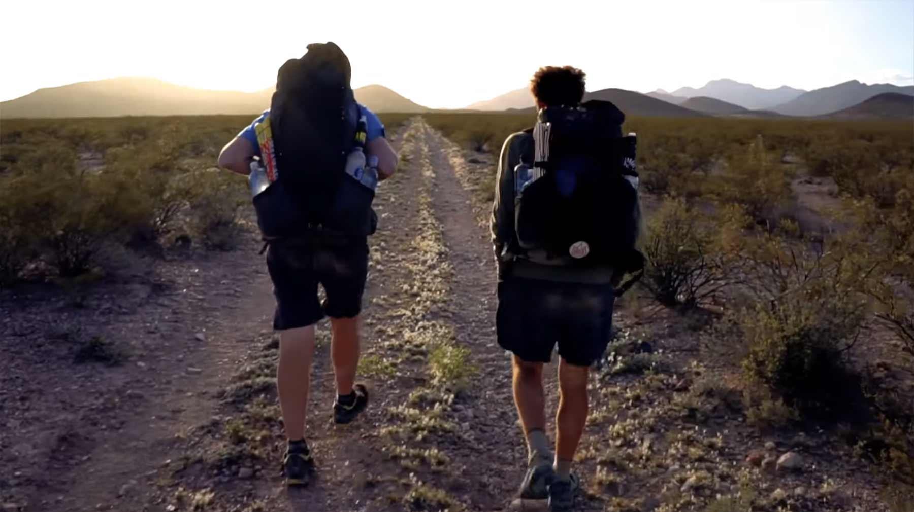 Von Mexiko bis Kanada wandern in 4 Minuten