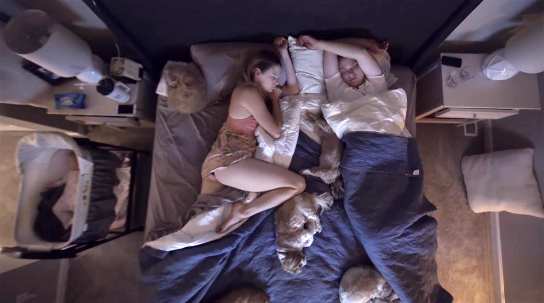 Wie Paare schlafen