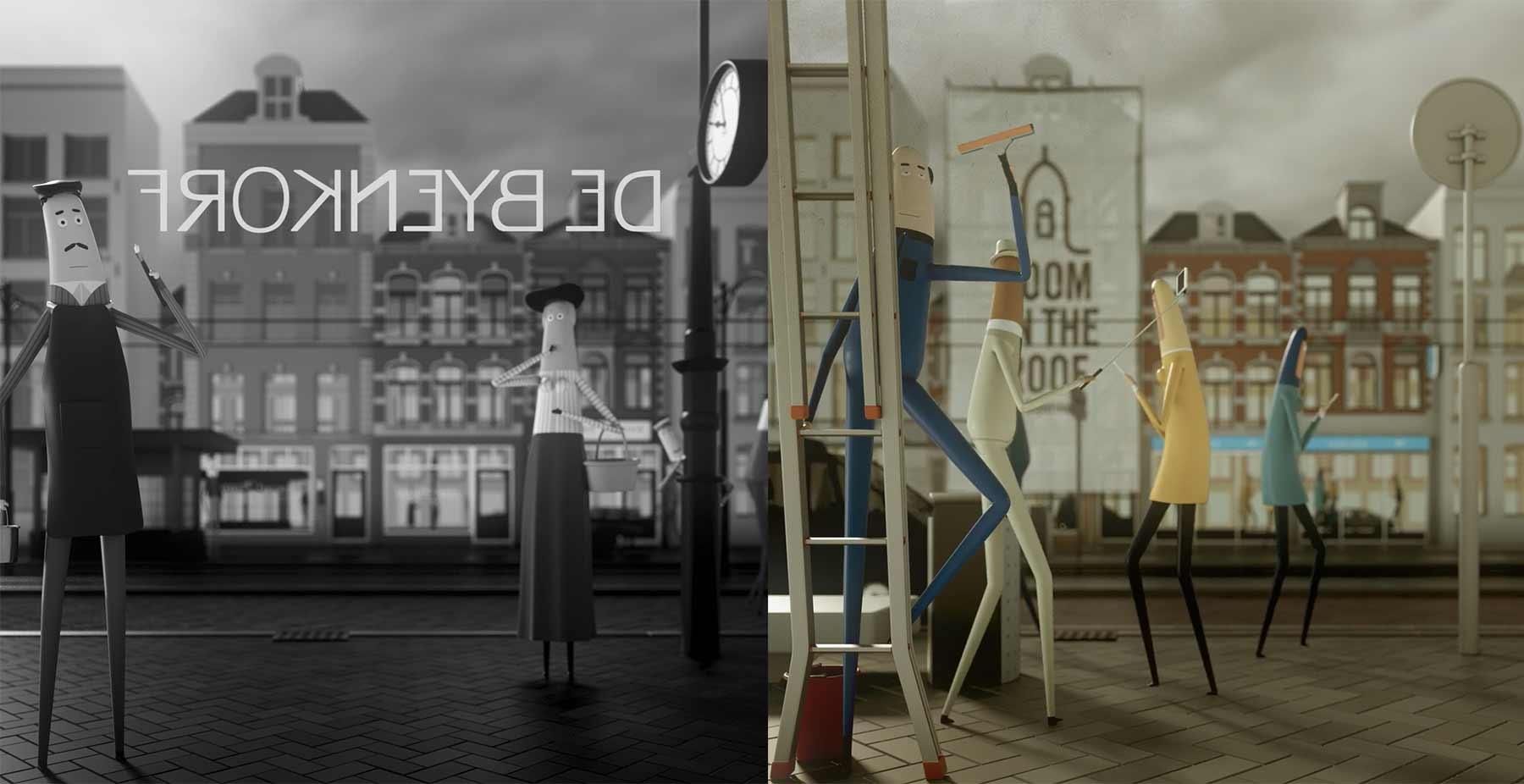 Ein Jahrhundert aus der Sicht eines Schaufensters 100-jahre-schaufenster-passing-by