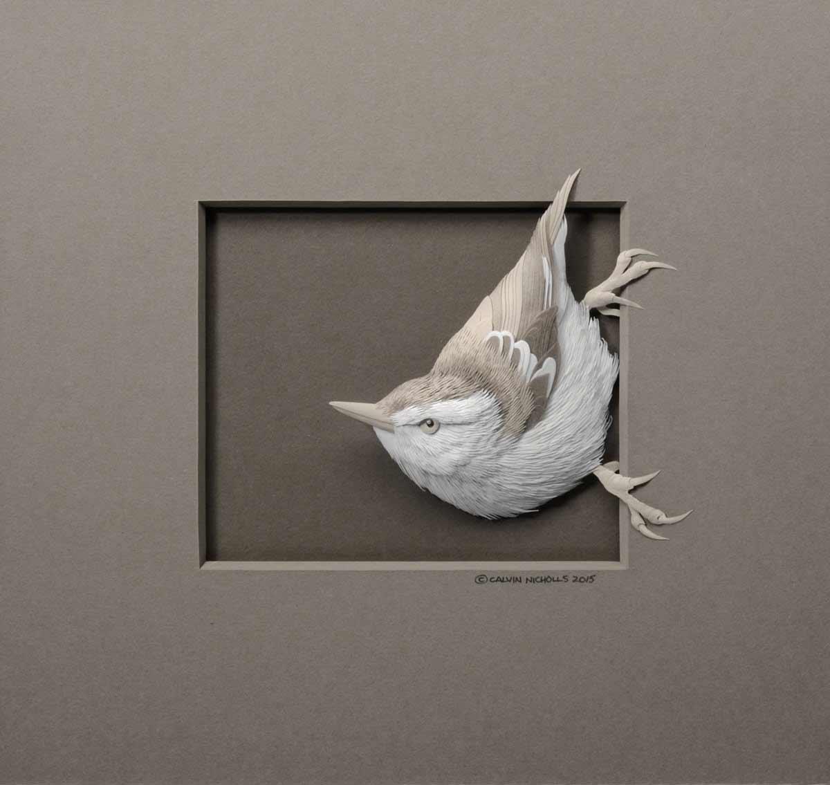 Neue Papierskulpturen von Calvin Nicholls