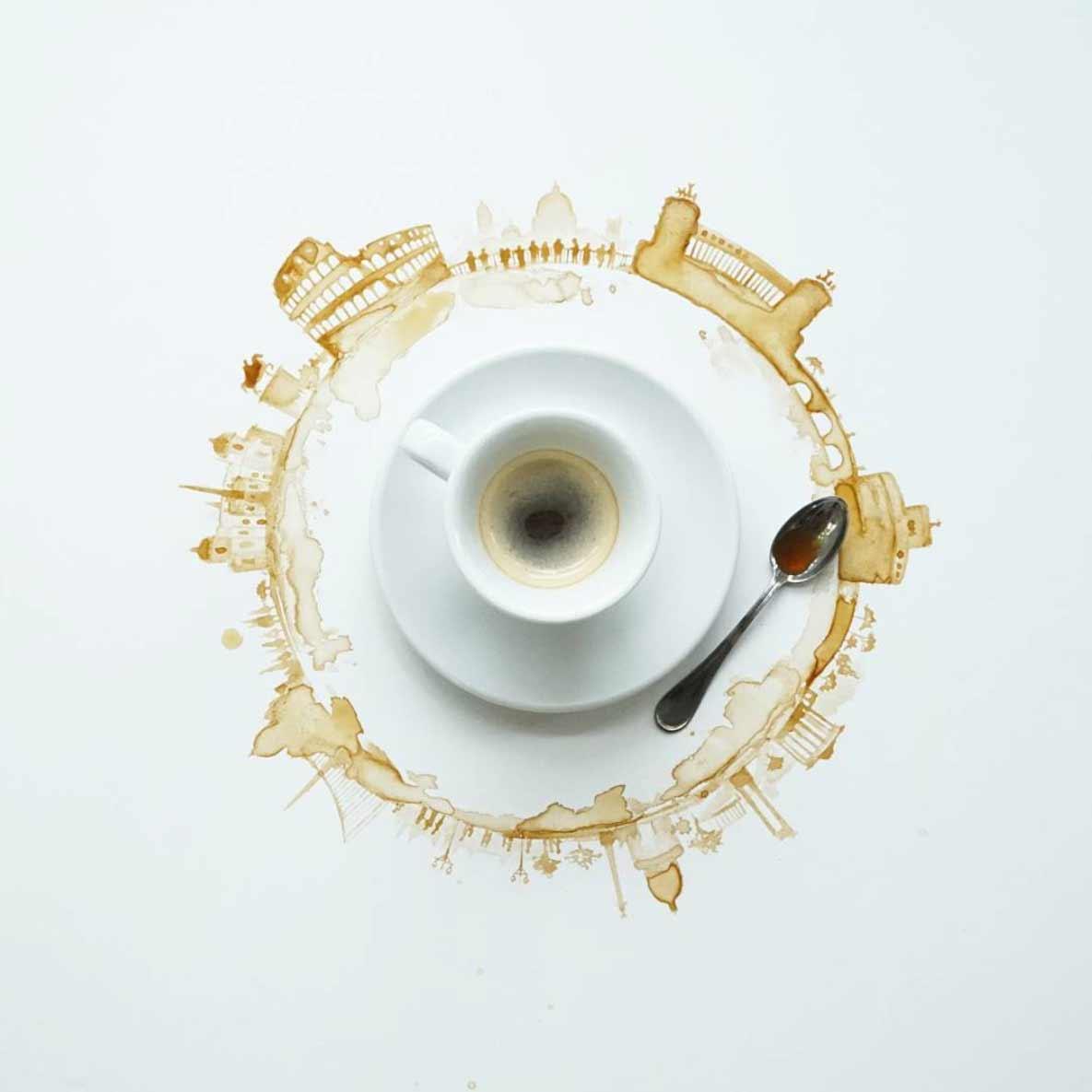 Neue Kaffee-Kunst von Giulia Bernardelli