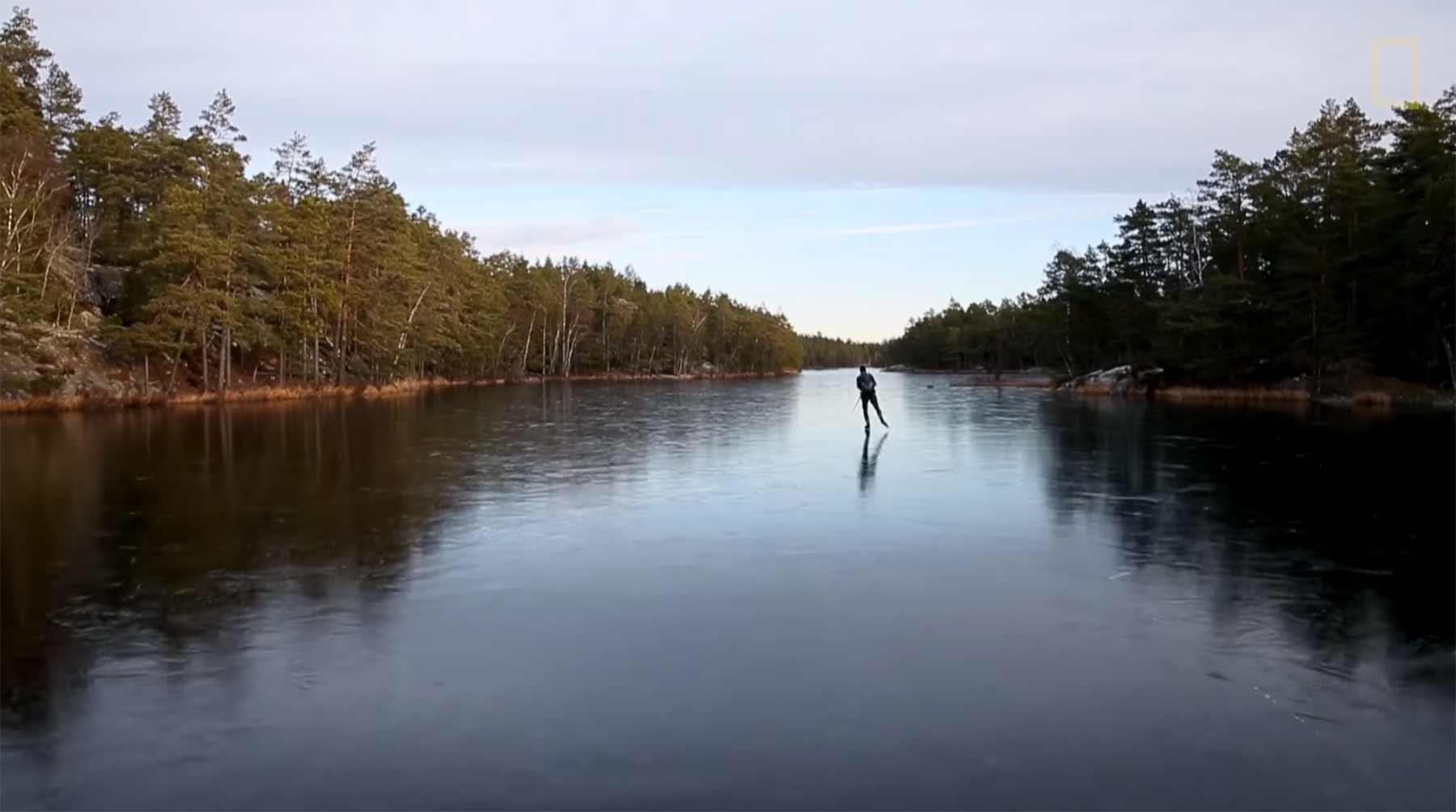 Auf ganz dünnem Eis fahren klingt wunderschön