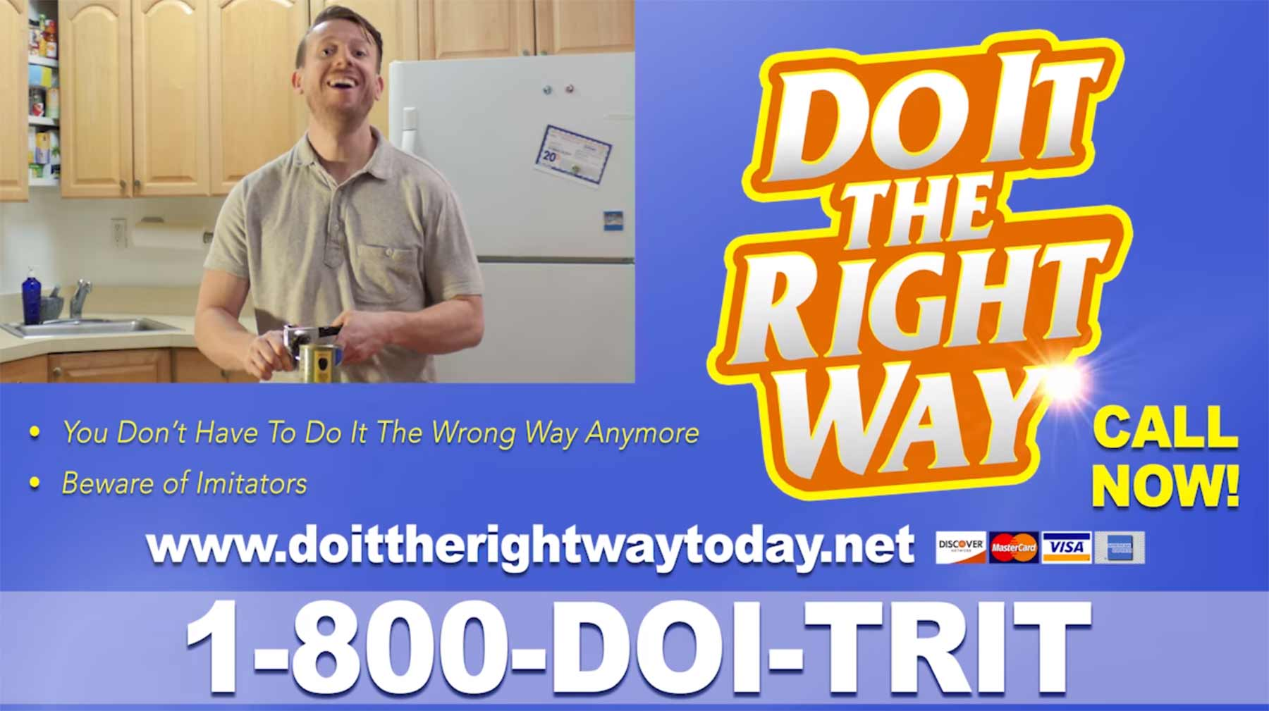 Schluss mit Infomercial-Alltagsproblemen do-it-the-right-way