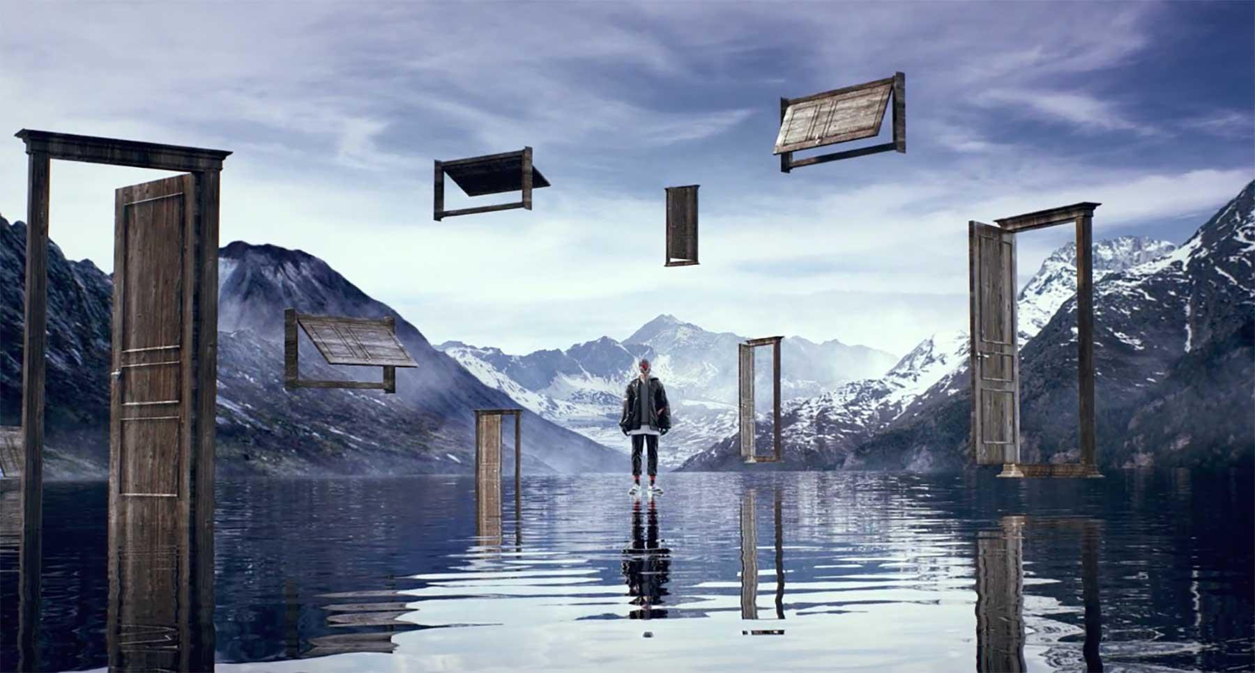Futuristische Virtual Reality Traum-Reisen dreaveler-kurzfilm