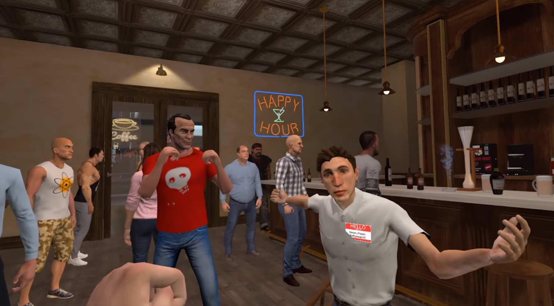 Endlich: Virtuelle Kneipenschlägereien drunkn-bar-fight-VR-game