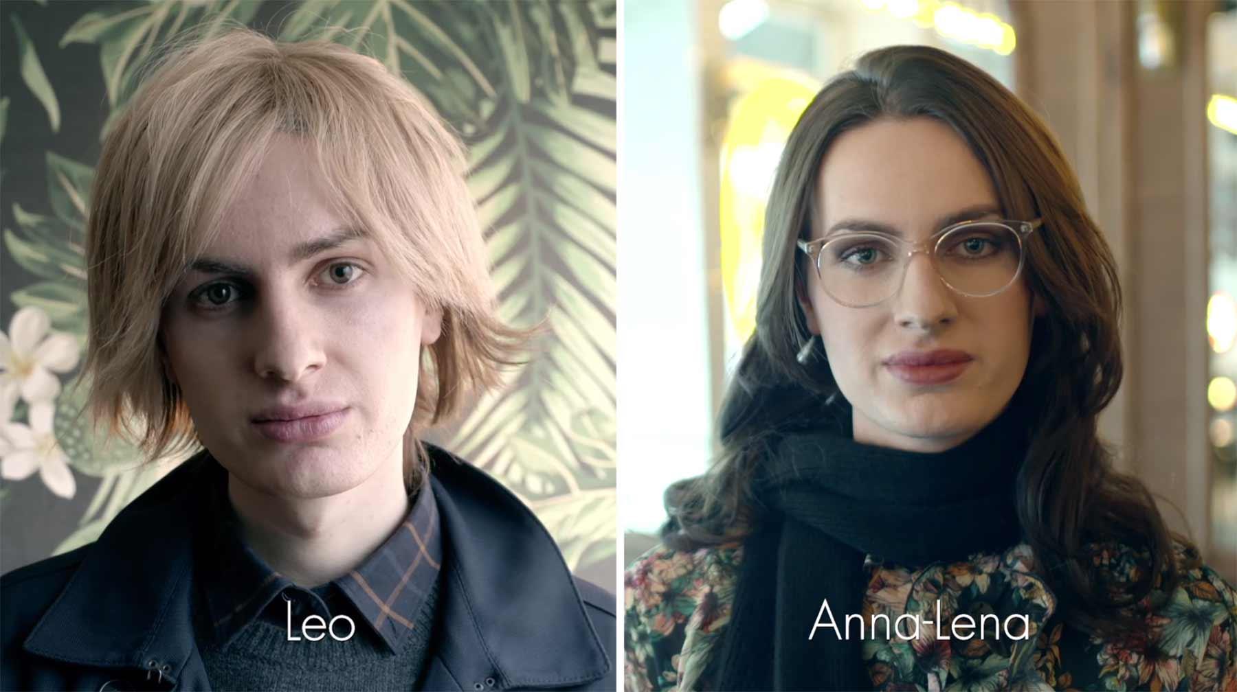 Transgender gehen als Frau und Mann zum selben Vorstellungsgespräch