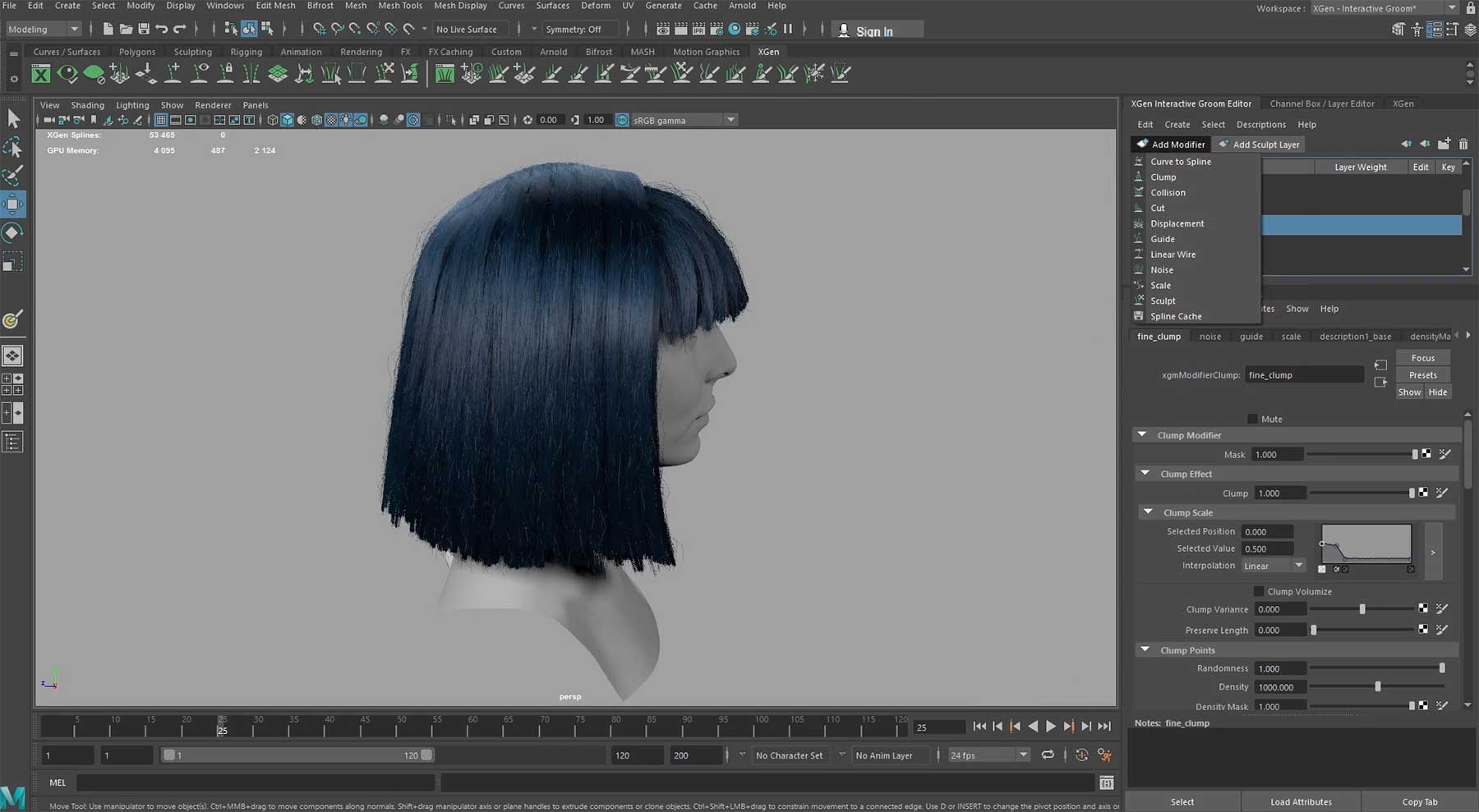 CGI-Haare in Maya frisieren