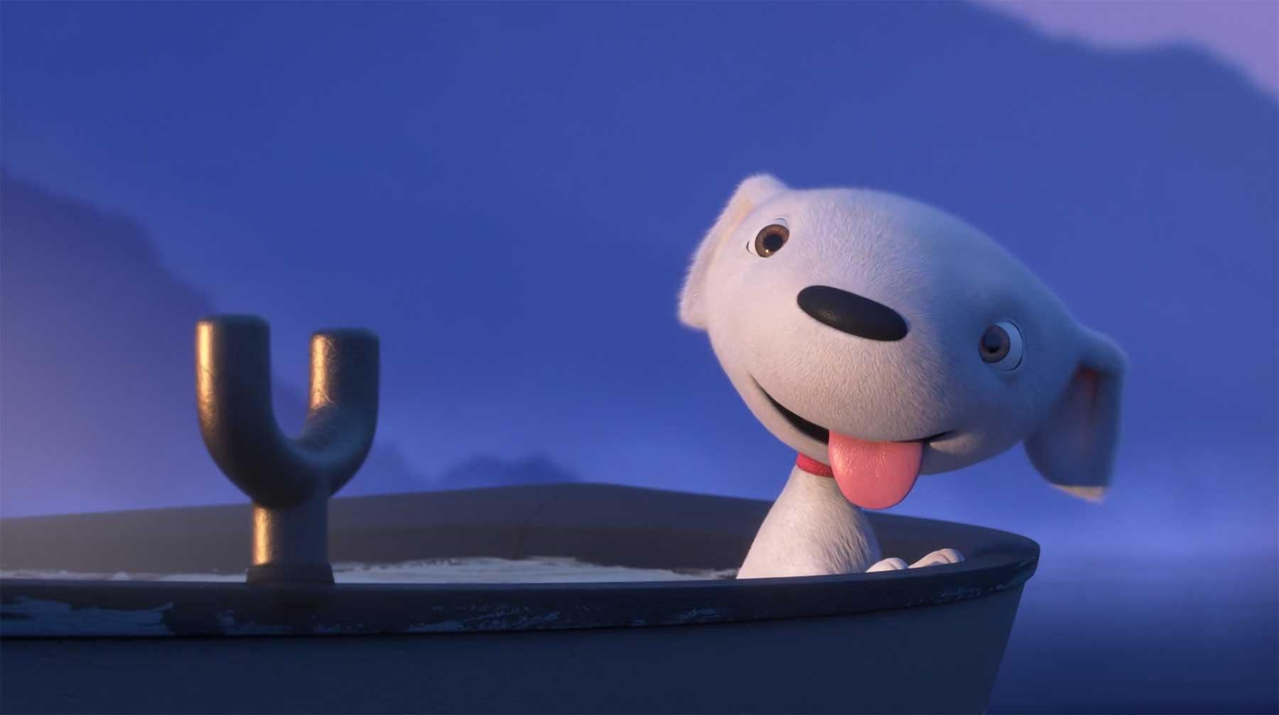 Kleiner Hund will beim Angeln helfen joy-story-kurzfilm