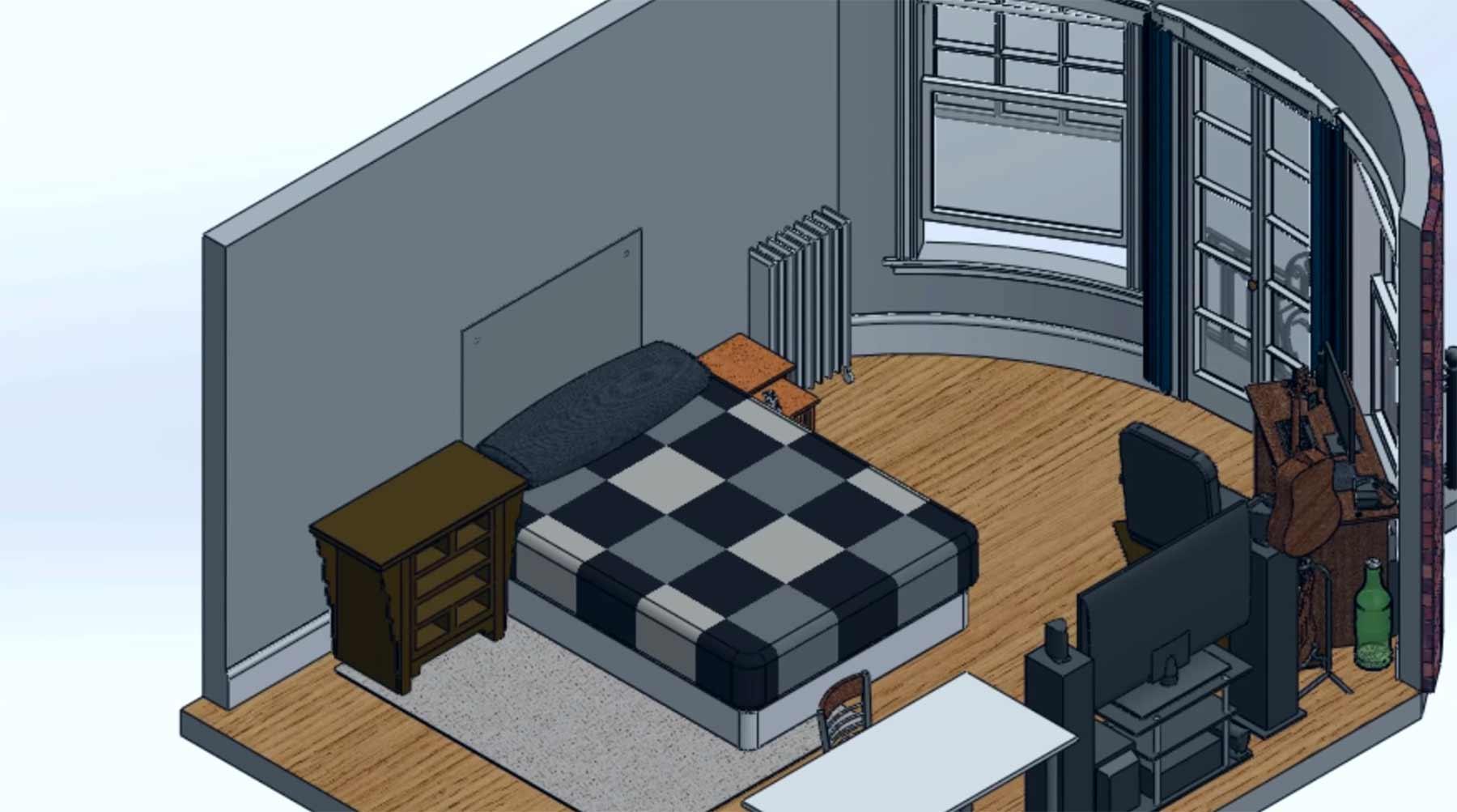 Einfach mal sein komplettes Zimmer in 3D nachstellen