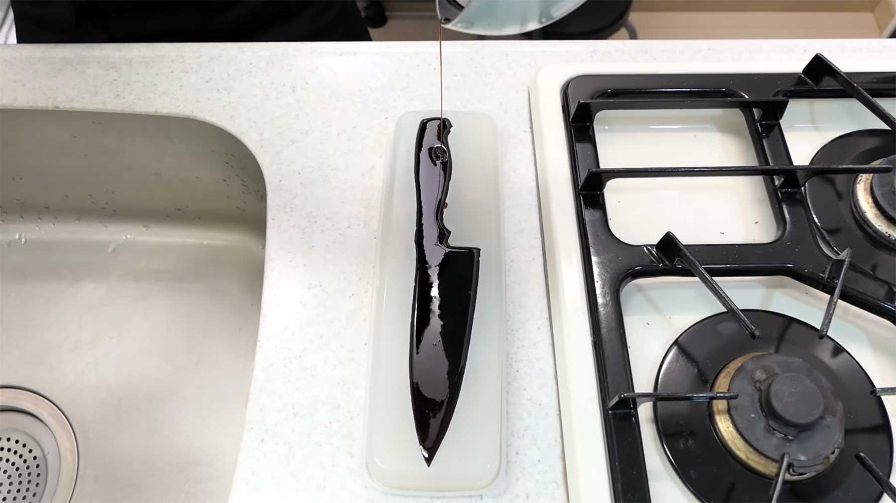 Küchenmesser aus Süßigkeiten herstellen
