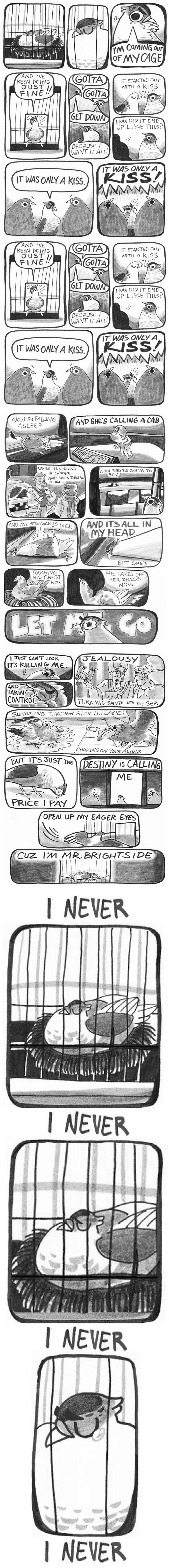 """Mr. Brightside"" als Tauben-Comic mr-brightside-pigeon-comic"