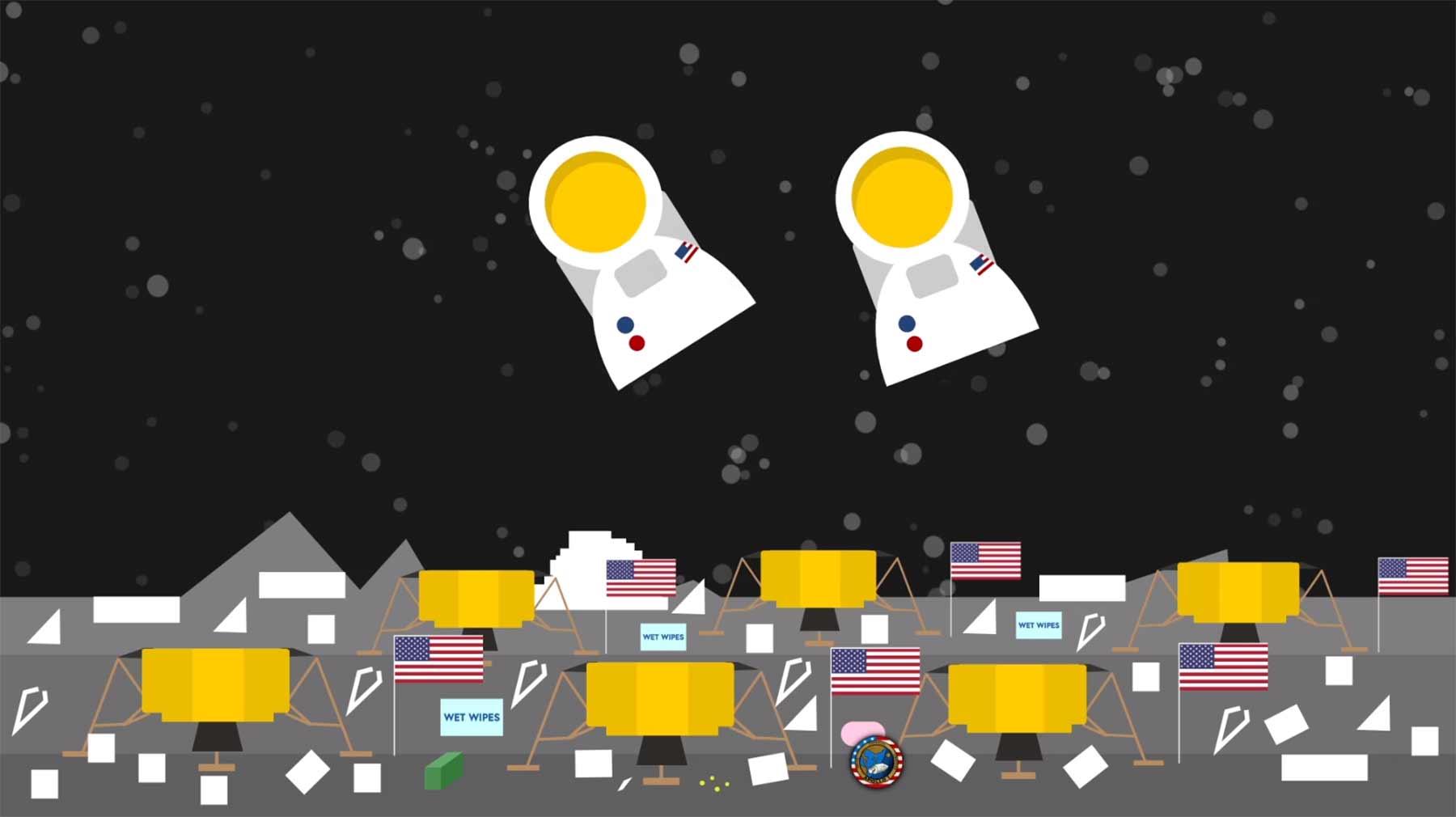 Diese 809 irdischen Dinge liegen noch auf dem Mond