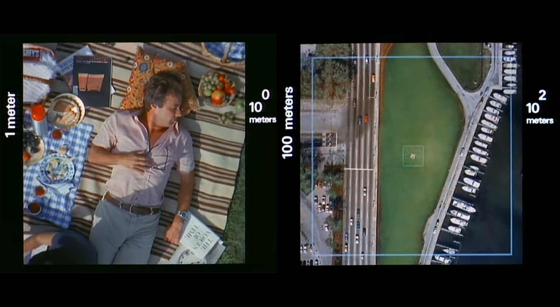 Dieser Film zoomt alle 10 Sekunden das Zehnfache raus