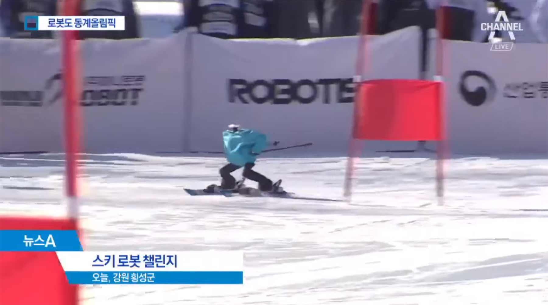 Skifahrende Roboter